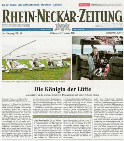 Rhein Neckar Zeitung Flugschule Mannheim